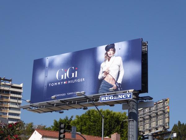 Gigi Hadid Tommy Hilfiger FW17 billboard