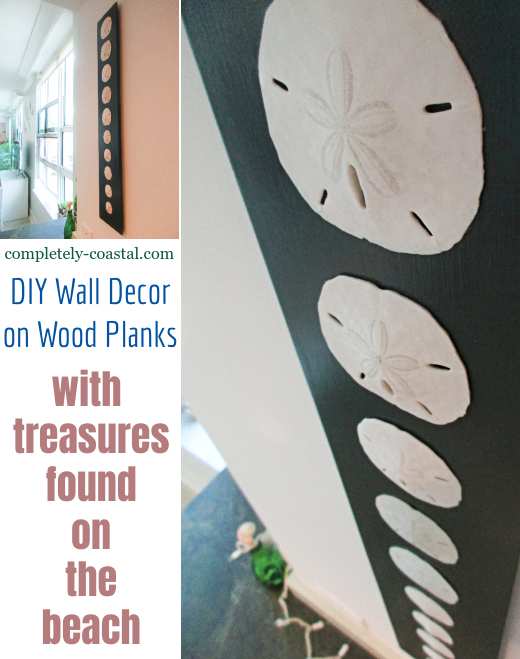 DIY Wood Plank Wall Art with Beach Finds