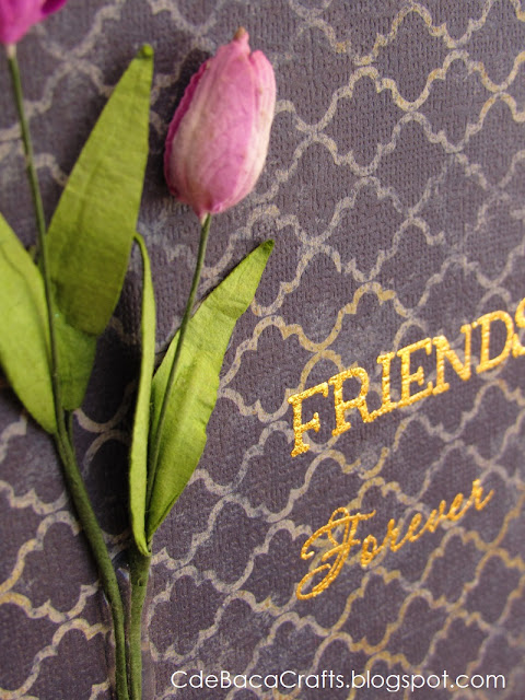 A Handmade Flower Card for Friends Forever by CdeBaca Crafts Blogger.