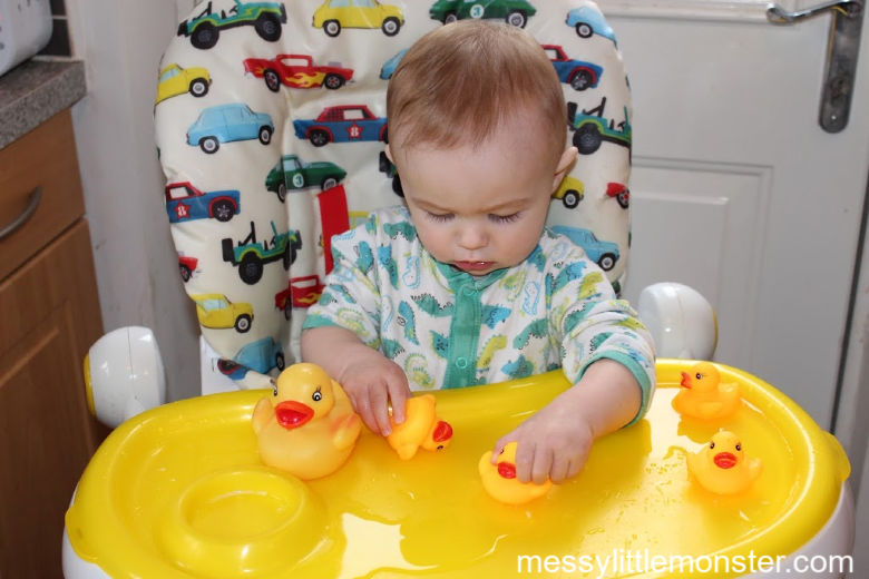 5 little ducks highchair activity for babies