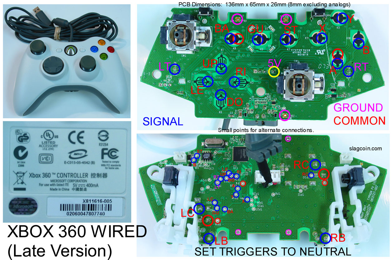 xbox 360 controller circuit board diagram rj11 connector wiring wireless get