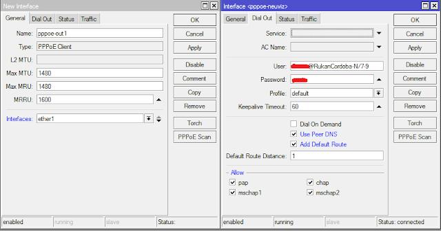 Tutorial Konfigurasi PPPoE Client Pada Router Mikrotik