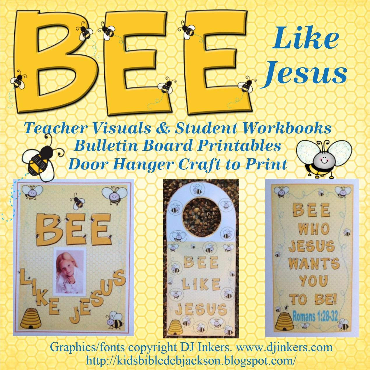 Bible Fun For Kids Romans Bee Who Jesus Wants You To Bee