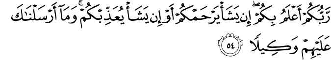 Surat Al Isra' Ayat 54