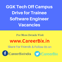 GGK Tech Off Campus Drive for Trainee Software Engineer Vacancies