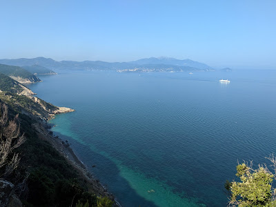 View from Punta dei Mangani towards Portoferrario, Elba.
