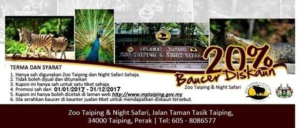 Tempat menarik di Taiping : Zoo Malam Taiping dan Yong Tau Foo Belakang Balai Bomba