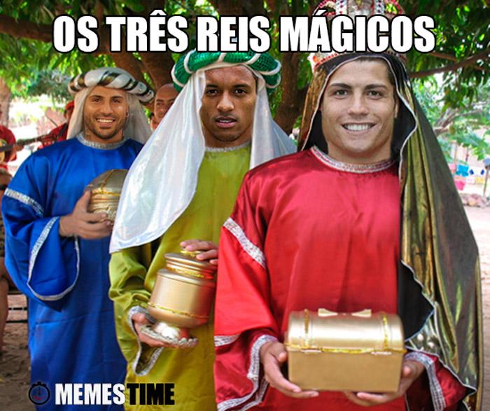 Meme Cristiano Ronaldo, Nani e Ricardo Quaresma  – Os três Reis Mágicos