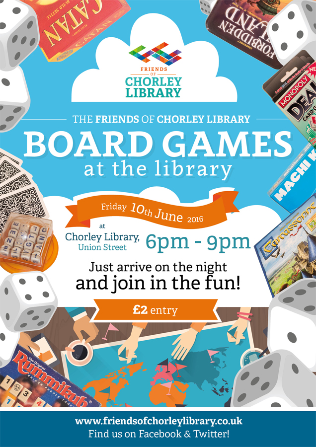 friends of chorley library board games at the library
