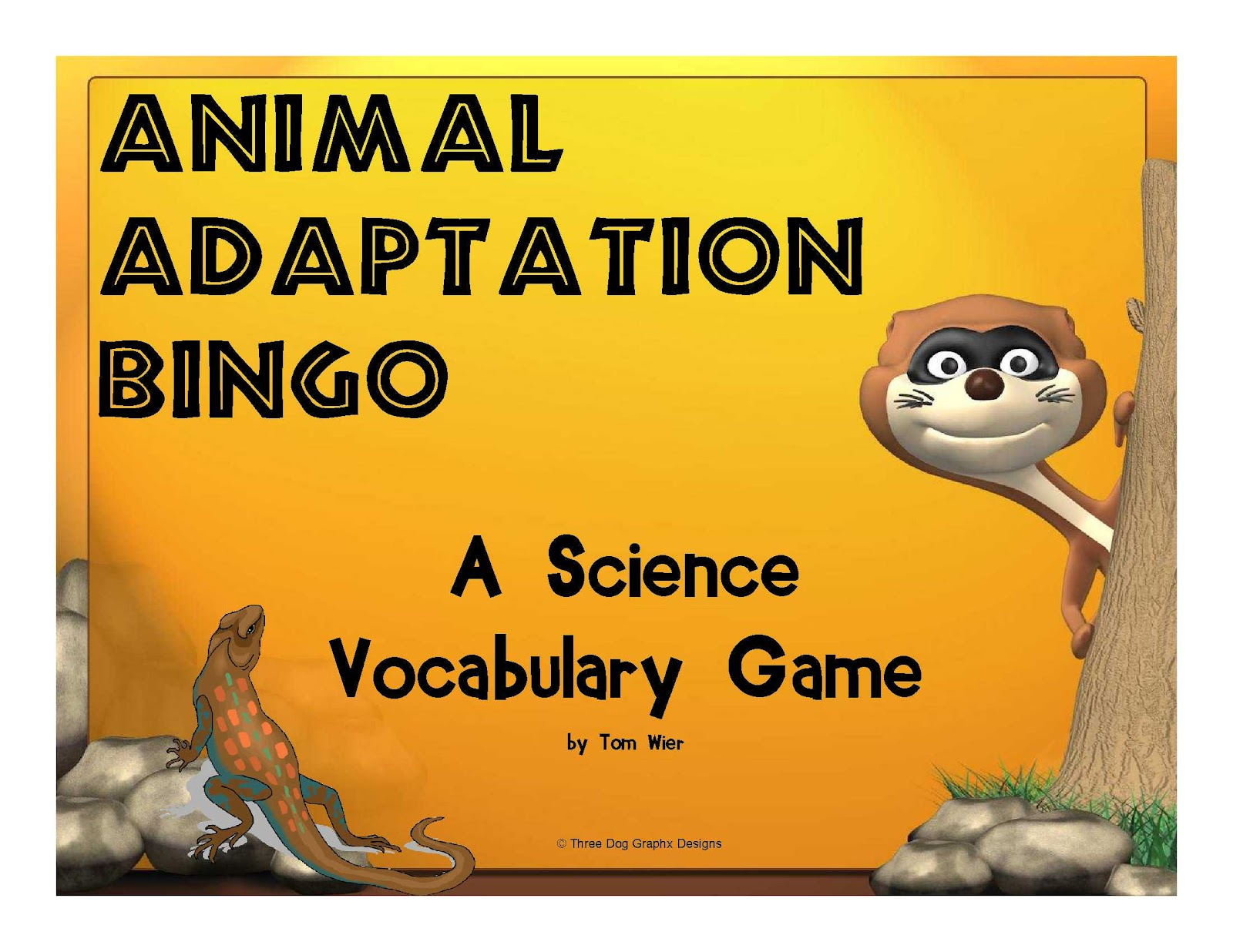 Trail 4 Success Blog Science Animal Adaptations Bingo