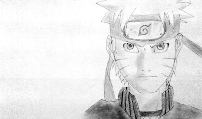 Naruto Drawing Ready to Fight