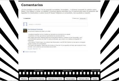 Captura de pantalla del cajón de comentarios de AQuemarropa
