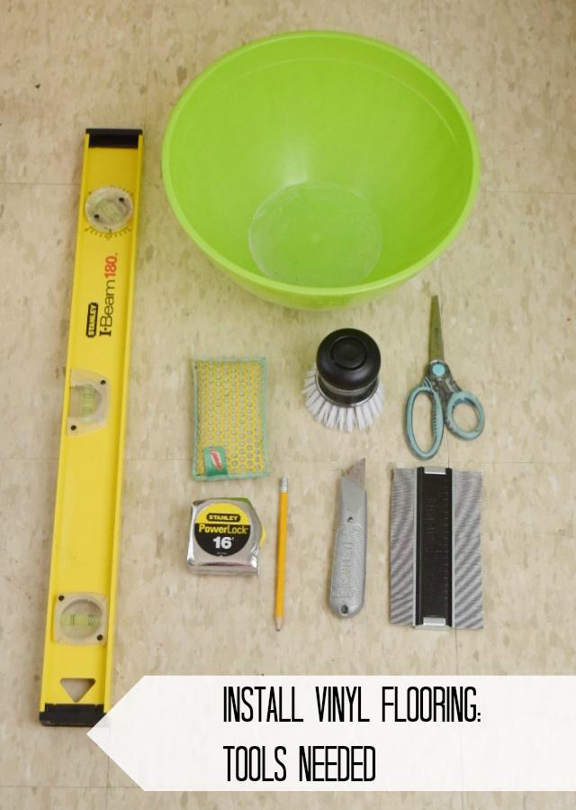 Install PeelAndStick Vinyl Floor Planks In The Bathroom More To - Tools needed for vinyl flooring