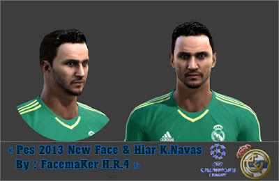 PES 2013 New Face & Hair Keylor Navas By FacemaKer H.R.4