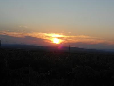 tramonto, sera, provenza, sole