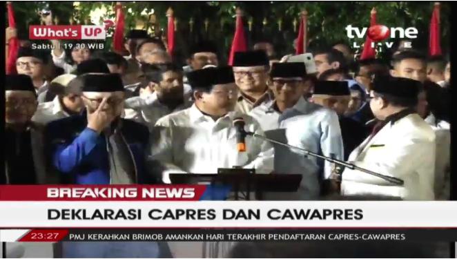 Sandiaga Resmi Jadi Cawapres Prabowo