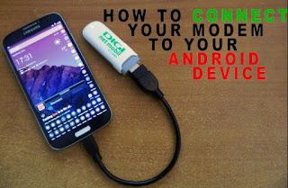 Cara Hubungkan Modem ke Android dan Tablet Untuk Internetan