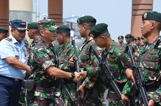 Satgas Karhutbunla Prov. Sumsel Terima 200 Prajurit BKO Mabes TNI
