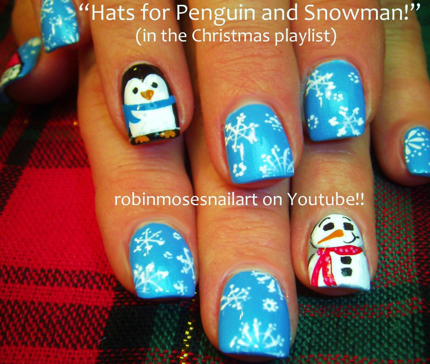 Nail Art By Robin Moses Xmas Nails Christmas Nails Winter