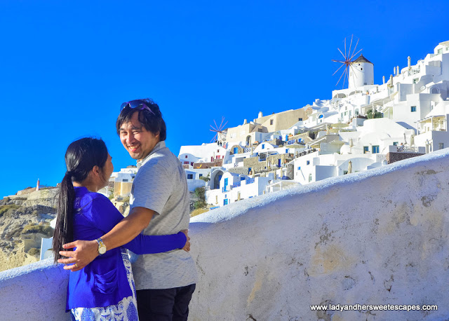 Ed and Lady in Santorini
