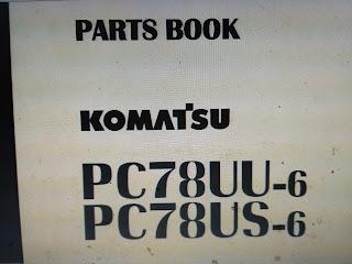 Parts book pc78us-6 pc78uu-6