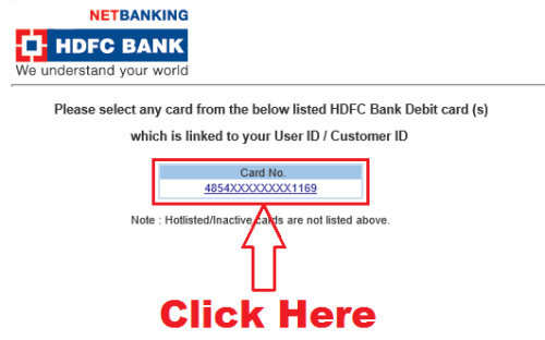 generate hdfc netbanking password online