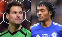 Asmir Begovic could be on his way in as Juan Cuadrado head for an early Stamford Bridge exit