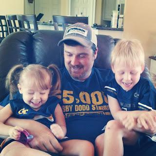 Georgia Tech Dad and Kids