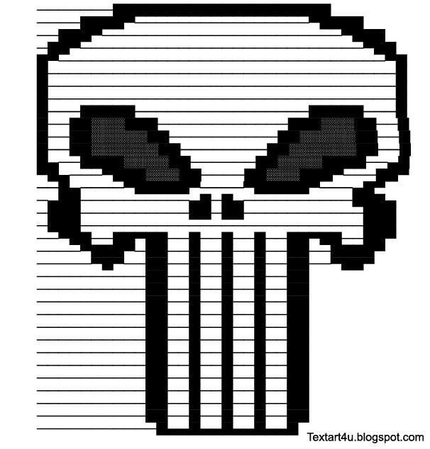 """""""Punisher Skull"""" Text Art"""