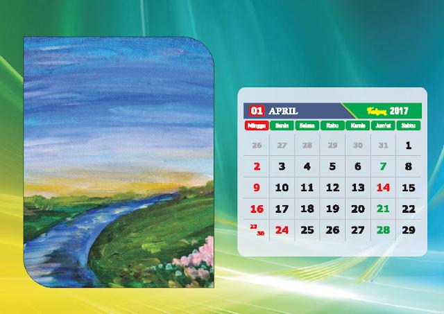 Kalender Bulan April 2017