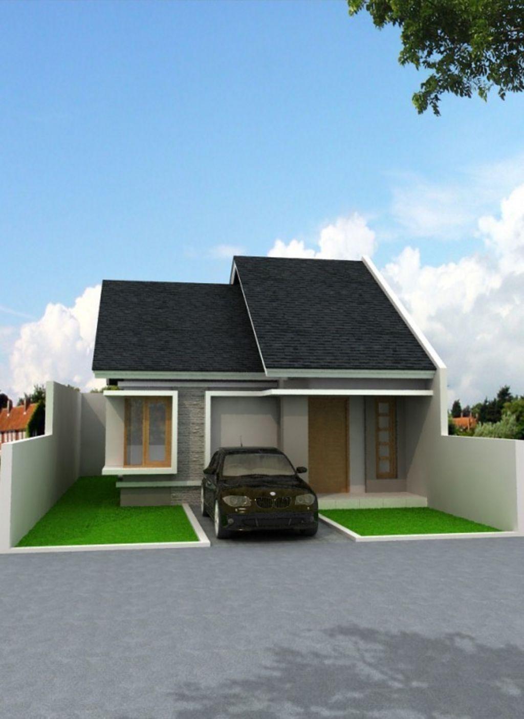 gambar sketsa rumah kecil yang menarik