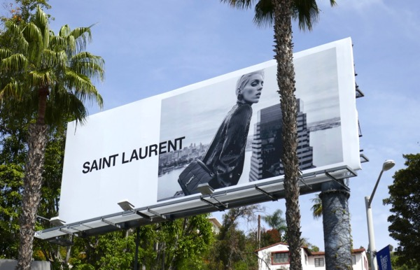 Saint Laurent S18 Anja Rubik billboard