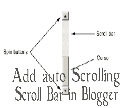 add auto scrolling scroll bar in blogger