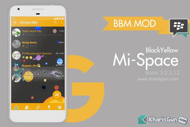 BBM Mod Mi Space - Base BBM Playstore v3.2.5.12 by Hammi