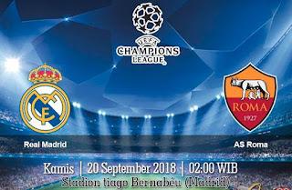 Prediksi Real Madrid vs AS Roma 20 September 2018