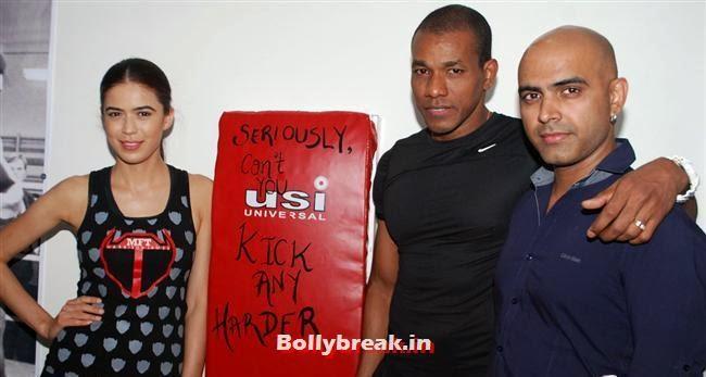 Sucheta Sharma James, Harrison James and Rajiv, Reyhna Malhotra at Sucheta Fitness Studio Launch Party