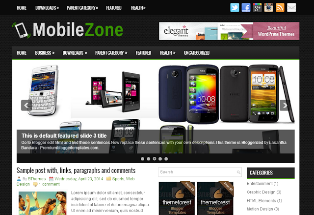 Mobilezone blogger template. Download Top Best Free Responsive Blogger Templates. Adapted from wordpress templates, converted from wordpress themes. xml blogspot templates for mobile, products reviews, technology gadgets and news