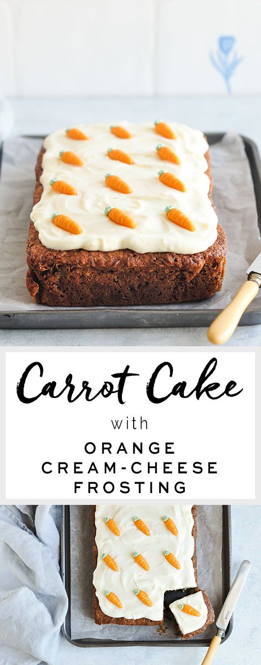 THE BEST CARROT CAKE WITH ORANGE CREAM CHEESE FROSTING