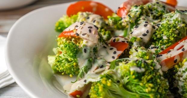 Steamed Veggies For Two With A Greek Yogurt Tahini Sauce Recipe