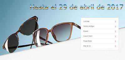 gafas de sol en oferta de Diesel y Tommy Hilfiger abril 2017