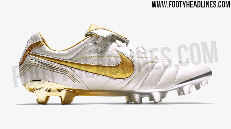 962fdcb61 White / Gold Nike Tiempo Legend Ronaldinho 2018 Boots Leaked - 14 ...