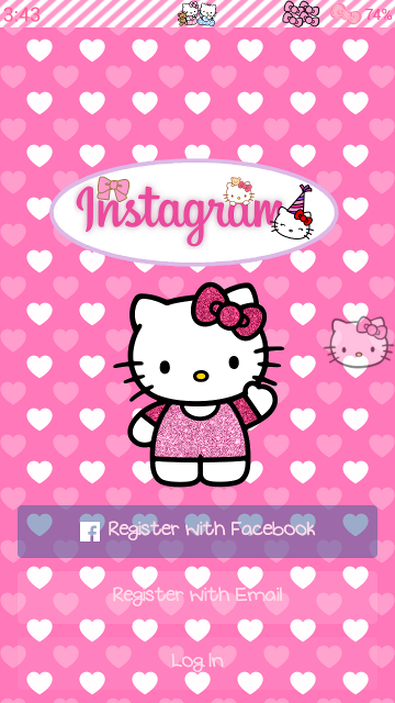 Pink hello kitty themes for android