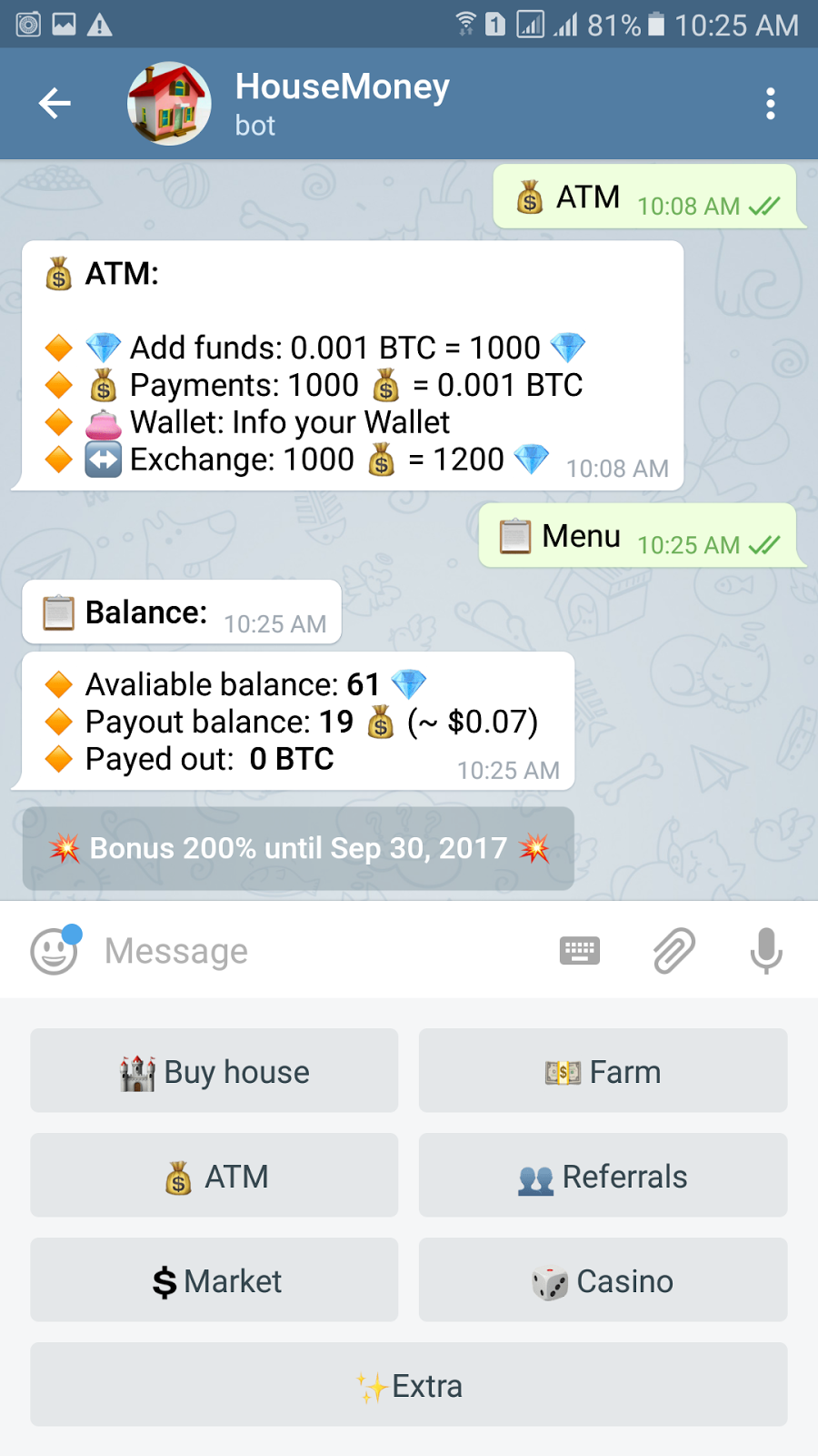 Earn Bitcoin Using Your Phone - Telegram