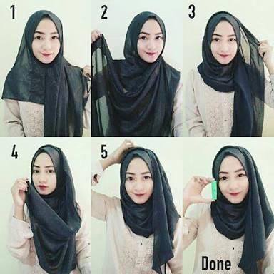 tutorial hijab terbaru simple style 2