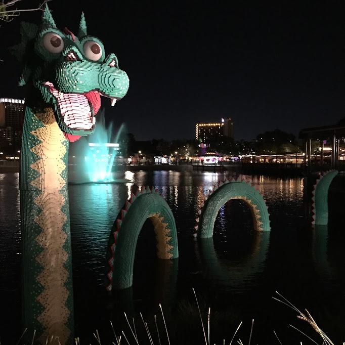 lego dragon at Disney Springs