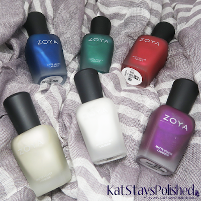 Zoya Matte Velvet 2015 | Kat Stays Polished