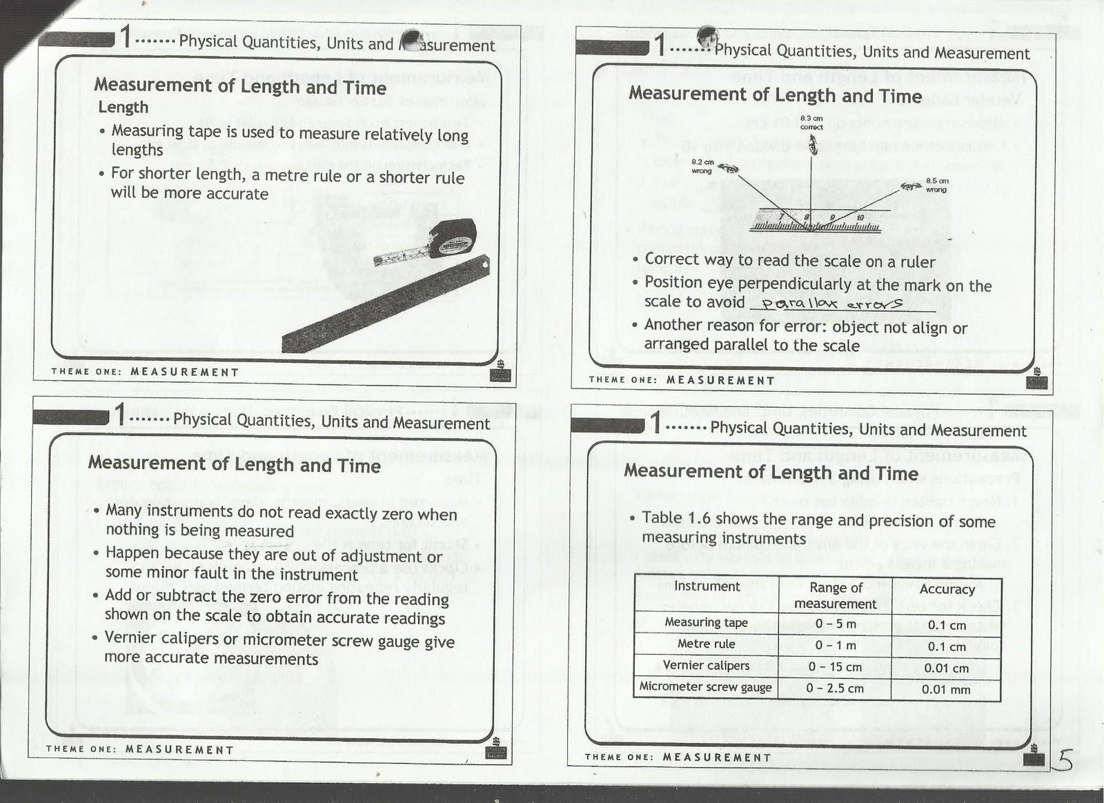 Studynotes: Physics Notes [Sec 5NA]