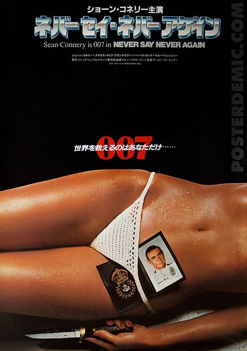 Teaser Poster Never Say never Again, James Bond 1983