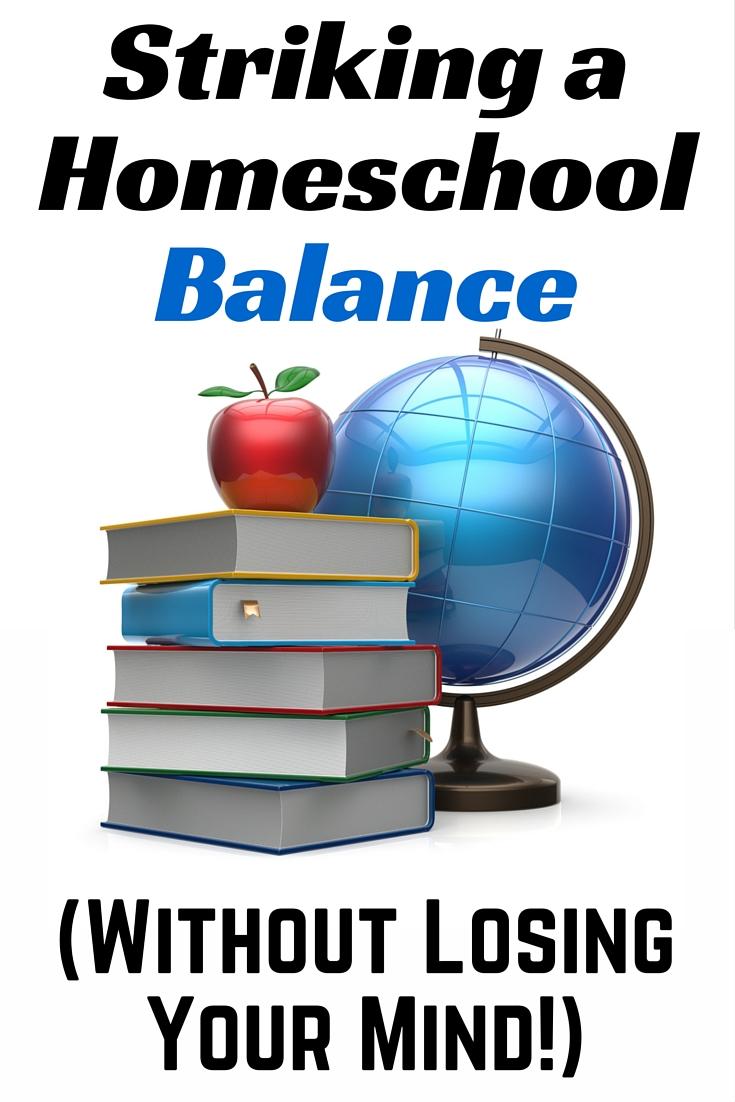 balancing homeschool life