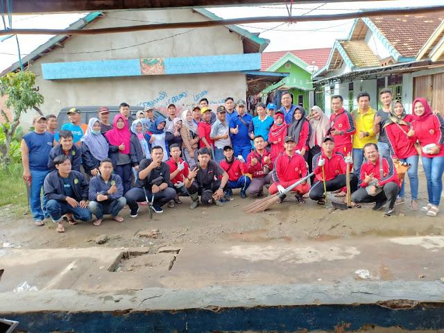 Mahasiswa KKN Unpal Terjun Gotong Royong